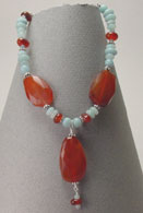 Amazonite & Carnelian Necklace