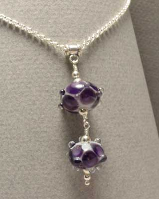 Purple Pendant Necklace